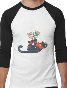 Litten and Rowlet! Men's Baseball ¾ T-Shirt