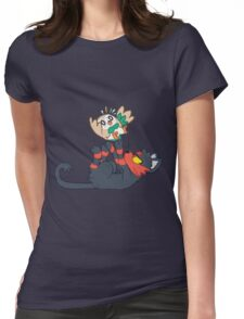 Litten and Rowlet! Womens Fitted T-Shirt