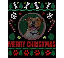 Staffordshire Terrier Dog ugly Christmas Sweater T-Shirt, American Staffordshire Terrier Ugly Christmas Sweater T-Shirt Photographic Print