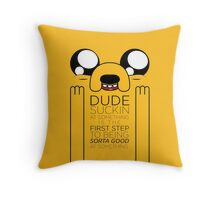 Jake the Dog Advice Throw Pillow