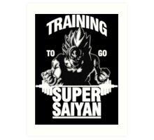 Training to go Super Saiyan (White Edition) Art Print