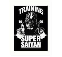 Training to go Super Saiyan (White Edition) Art Print