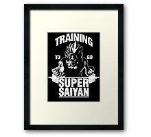Training to go Super Saiyan (White Edition) Framed Print