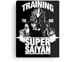 Training to go Super Saiyan (White Edition) Metal Print