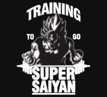 Training to go Super Saiyan (White Edition) by skilfulstarship