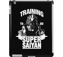 Training to go Super Saiyan (White Edition) iPad Case/Skin