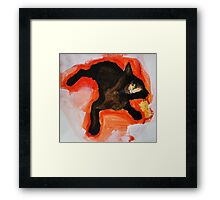 That Black Cat Framed Print