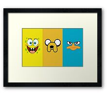 3 characters Framed Print
