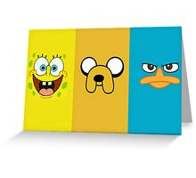 3 characters Greeting Card