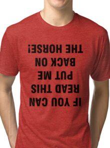 Funny Horse Tri-blend T-Shirt