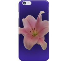 PINK LILY ON PURPLE iPhone Case/Skin