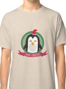 Santa Penguin Merry Christmas Classic T-Shirt