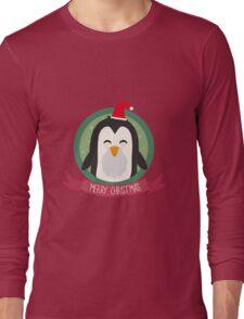 Santa Penguin Merry Christmas Long Sleeve T-Shirt