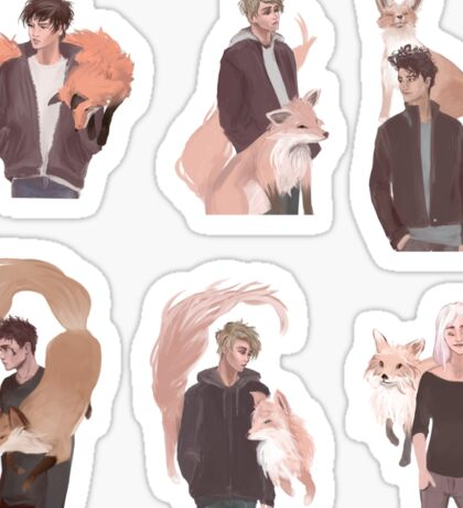 Foxes with Foxes Sticker Set Sticker