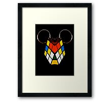 COLOURED CUBE Framed Print