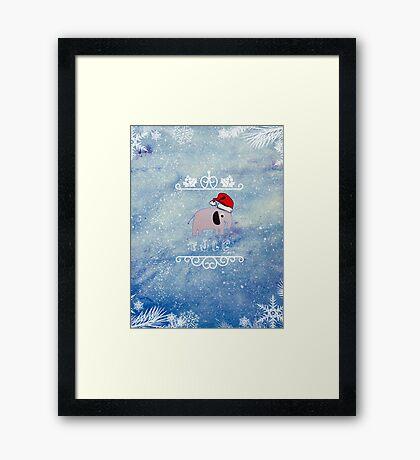 Johnlock Christmas Framed Print