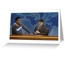Leslie Jones and Colin Jost SNL Greeting Card