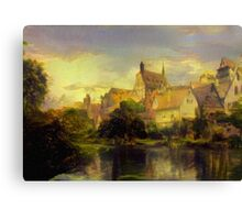 Village Next To The RIver Canvas Print