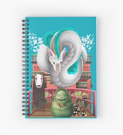 Spirited Away - Miyazaki Studio Ghibli Tribute Spiral Notebook