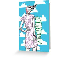 woodpecker and caterpillar Greeting Card