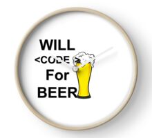 Will Code For Beer Clock
