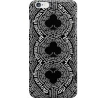 The Black Book Three of Clubs iPhone Case/Skin