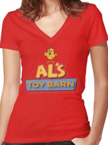 Als Toy Barn Women's Fitted V-Neck T-Shirt