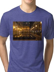 Elegant Symmetry - Reflections in Gold and Black Tri-blend T-Shirt
