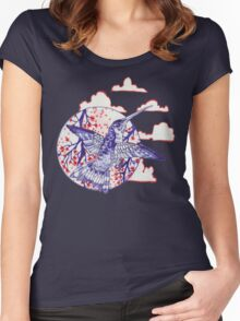 calico hummingbird Women's Fitted Scoop T-Shirt