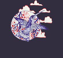 calico hummingbird Womens Fitted T-Shirt