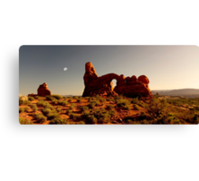 Turret Arch at sunset. Canvas Print