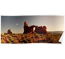 Turret Arch at sunset. Poster