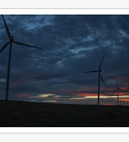 Wind Turbine Sunset #1 Sticker