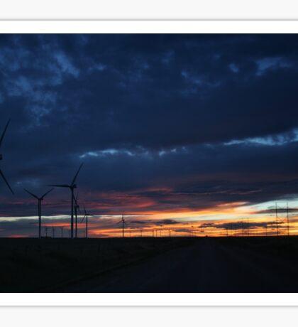 Wind Turbine Sunset #2 Sticker