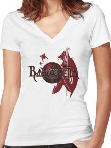 Bayonetta Women's Fitted V-Neck T-Shirt