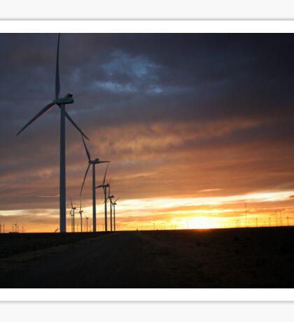 Wind Turbine Sunset #4 Sticker