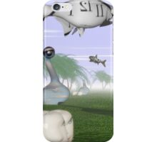 Corporate loan sharks encircling family dream  iPhone Case/Skin