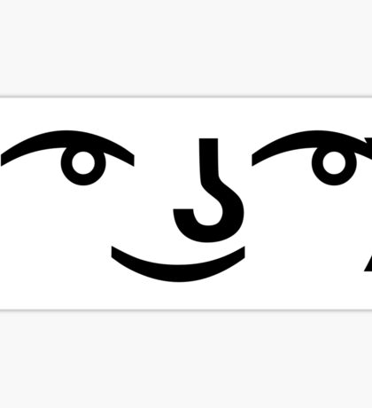 The Lenny Face Sticker