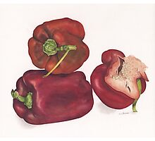 Capsicum stack Photographic Print