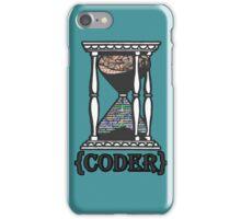 CODER  (hourglass)(programming) iPhone Case/Skin