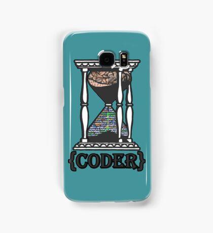 CODER  (hourglass)(programming) Samsung Galaxy Case/Skin