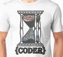 CODER  (hourglass)(programming) Unisex T-Shirt