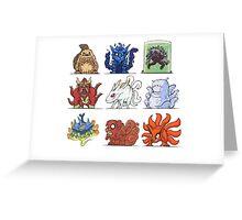 Tailed Beast and Jinchuriki Counting Song Greeting Card
