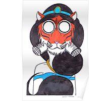 Fearsome Desert Tigress Poster