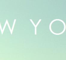 New York Skyline Sticker