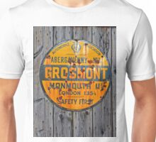 Grosmont - AA Abergavenny, old Enameled sign, Wales, Monmouthshire  Unisex T-Shirt