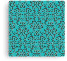 Scrolls and Leaves Pattern Canvas Print
