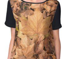 Autumn Leaf Background Chiffon Top