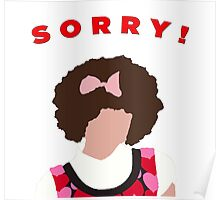 Sorry! Gilly Poster