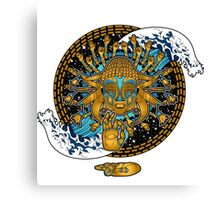 Multicultural Golden buddha Canvas Print